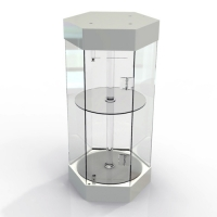 Acrylic revolving display cabinet