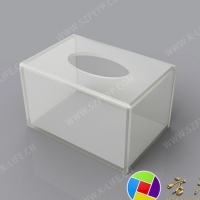 Acrylic paper towel box